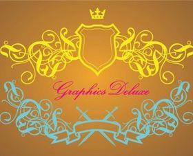 Luxurious Heraldry Graphics vectors