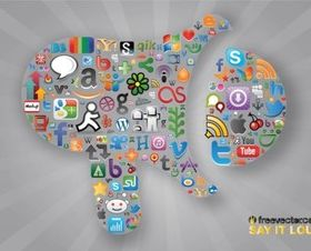 Social Communication vectors graphic
