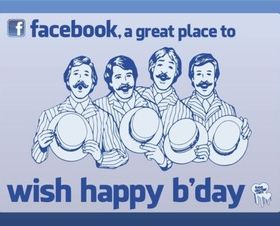 Facebook Birthday set vector