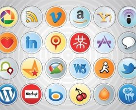 Social MediIcon Set vectors