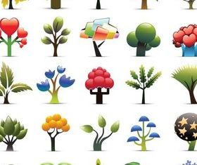 Creative Color Trees vector