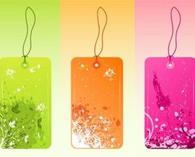 Cool Grunge Tags vector graphics