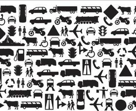 Icons for maps free design vector