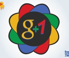 Google Plus 1 Icon vector