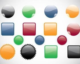 Web Buttons design vectors
