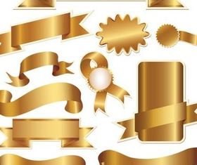 Different Gold Ribbons Vector