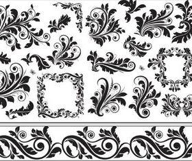 Swirl Floral Design vectors