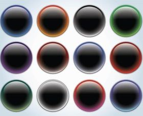 Glass Buttons design vectors