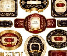 Gold Luxury Labels Vector design