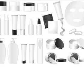 Cosmetics Items Vector