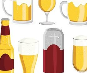 Different Beer Glassware vector graphic