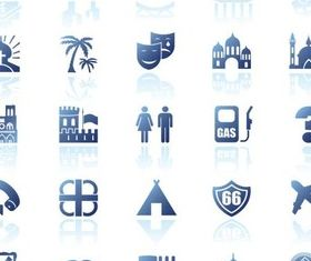 Blue Icons graphic vector