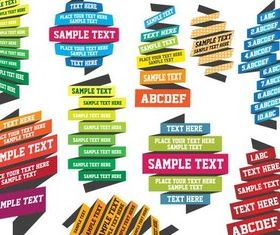 Ribbon Text Are vector graphic