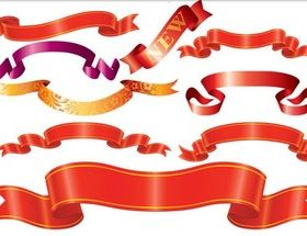 Color Ribbons free creative vector