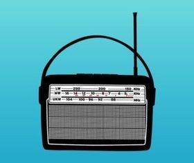 Old Radio set vector
