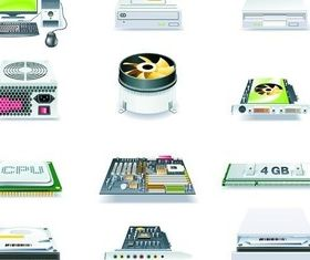 computer accessories circuit board vector set