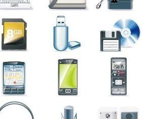 Computer mobile phone design shiny vector