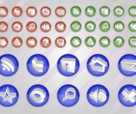 Web Vectors Button Pack vector material