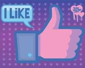 Facebook Like Vector design
