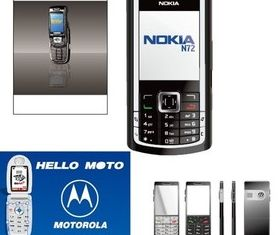Different mobile phone Illustration vector
