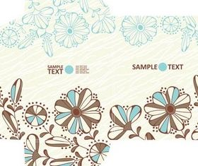 Floral Paper Objects set vector