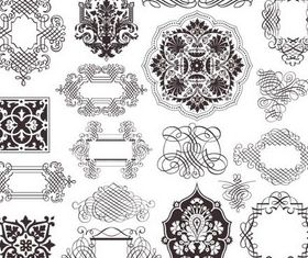 Stylish Ornament Elements design vectors