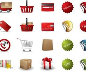 Sale Color Icons free vector graphics
