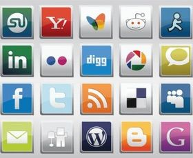 Free Social Medi Icons vector graphics