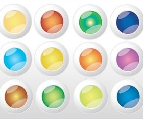 Colorful Web Buttons Vectors