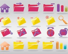 Computer Folder Icons vector design