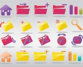 Computer Folder Icons vector design