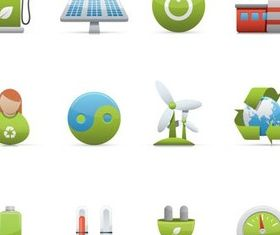 Different Ecology Icons vectors graphic