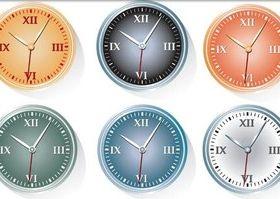 classic clock free design vectors