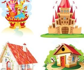 Fantastic houses free vector graphics