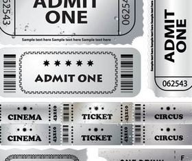 Silver CinemTickets Vector