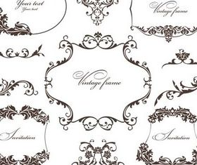 Floral Luxury Frames vector