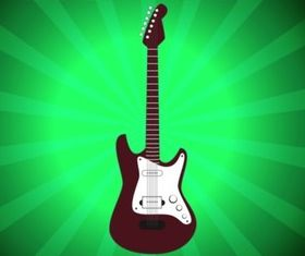 Electric Guitar design vectors