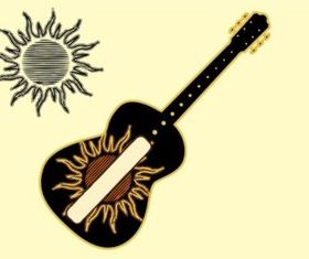 Sun And Music Vector