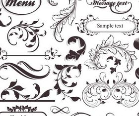 Menu Decorate Elements Vector