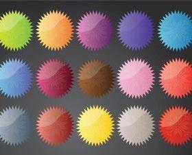 Flower Star Buttons vector material