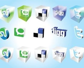 Social Bookmark Icons vector