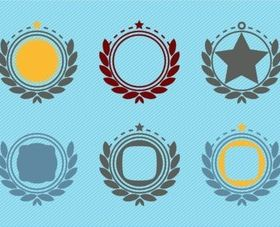 Retro Emblem Badge Decorations vector