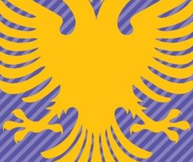AlbaniFlag Double Headed Eagle vector graphic
