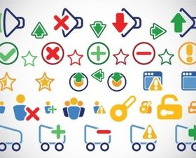 Clip Art Icons shiny vector