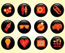 Design Buttons set vector
