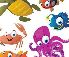 Cartoon Marine Animals vector
