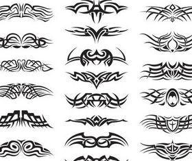 Creative Tattoo Set vector