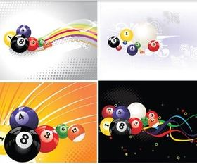 Billiard backgrounds free Illustration vector