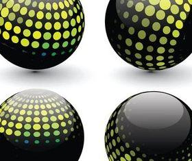 Abstract Black Balls design vector