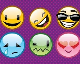 Cool Emoticons vector